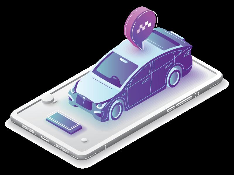 thonon taxi illustration